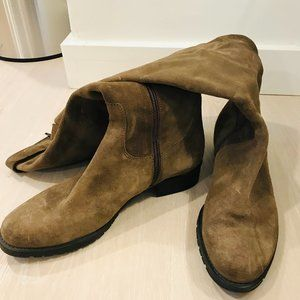Italian High Suede Boots